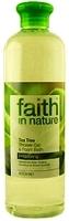 """Гель пена для душа и ванны 400мл """"faith in nature"""" с эфирным маслом Чайного дерева"""