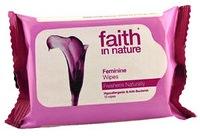 """Влажные салфетки 15 шт """"faith in nature""""для интимной женской гигиены"""