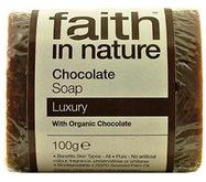 """Натуральное мыло с органическим Шоколадом """"faith in nature """" брусок 100гр"""