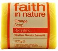 """Натуральное освежающее мыло с маслом Апельсина """"faith in nature"""" брусок 100гр"""