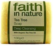 """Натуральное антибактериальное мыло с эфирным маслом Чайного дерева, """"faith in nature"""" брусок 100гр"""