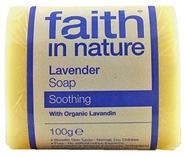 "Натуральное мыло с маслом Лаванды ""faith in nature"" брусок 100гр"