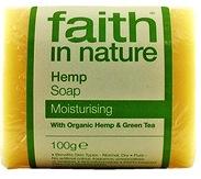 """Натуральное увлажняющее мыло с Конопляным маслом """"faith in nature"""" брусок 100гр"""