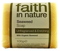 """Натуральное питающее мыло с экстрактом Морских Водорослей, """"faith in nature"""" брусок 100гр"""