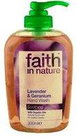 """Тонизирующее натуральное жидкое мыло """"faith in nature"""" с Лавандой и Геранью 300мл"""